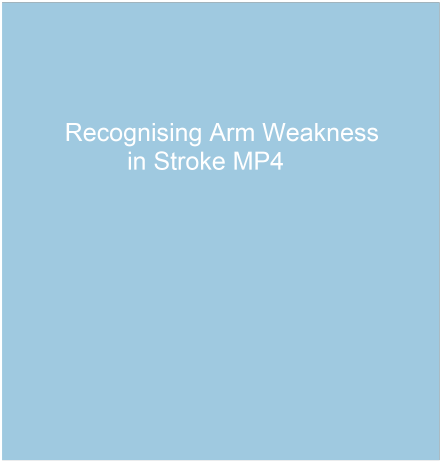stroke arm weakness