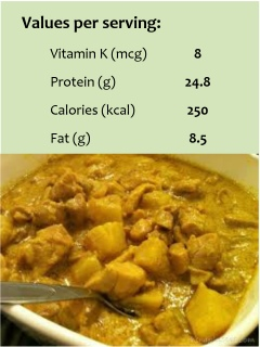 Cath's Chicken Curry (serves 4)