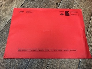 Coaguchek Safety Notice envelope