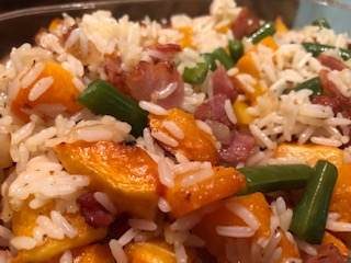 Squash, Bacon and Rice One Pot (serves 6)