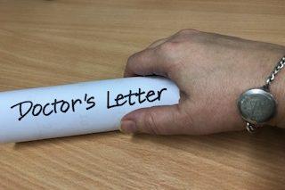 Doctors letter for gym use